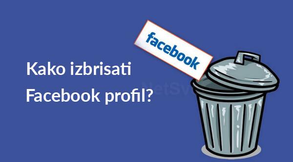 Kako izbrisati Facebook profil